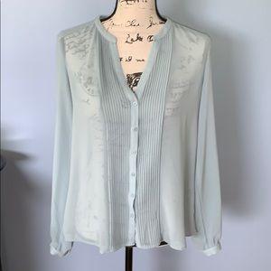 FOREVER 21 Large gray-blue blouse sheer